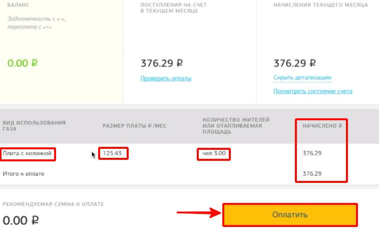 Детализация платежа